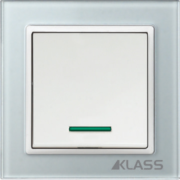 Aparataj LUX L-klass grey/3901 – Intrerupator led