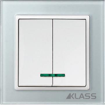Aparataj LUX L-klass grey/3903 – Comutator led