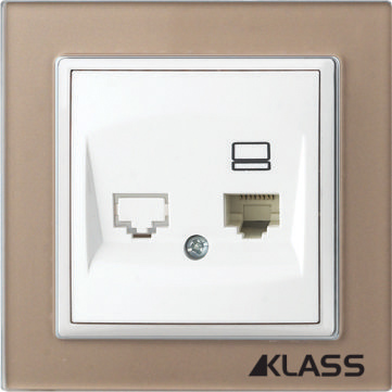 Aparataj LUX L-klass chm/3915 – Priza UTP Cat5E simpla