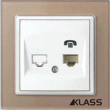 Aparataj LUX L-klass chm/3917 – Priza telefon simpla