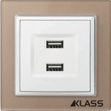 Aparataj LUX L-klass chm/3933 – Priza USB dubla (2A/5v DC)