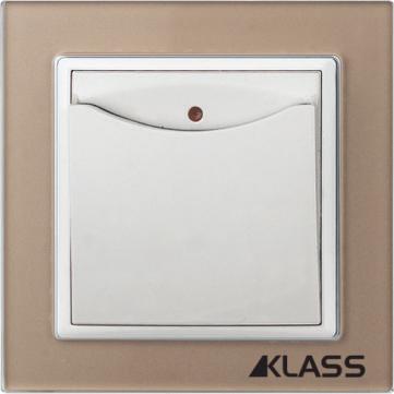 Aparataj LUX L-klass chm/3936 – Intrerupator cu cartela (16A/250v)