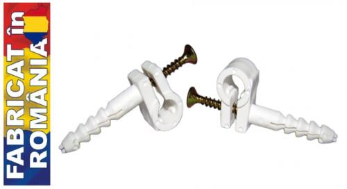 Accesorii pt fixare Clema rapida fixare cablu cu surub  8mm (100buc)