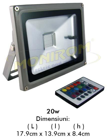 LED - proiectoare Proiector  LED RGB – 20w (telecomanda)  *TV 0,25ron