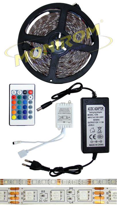 LED - banda & accesorii Banda LED flexibila – 5050  RGB/5m  *TV 0,25ron