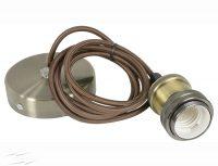 Corp iluminat interior Dulie cu fir E27/1,0m (pendul met) – GM(gold mat)