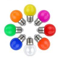 LED - iluminat festiv Bec Led – Color G45 E27 3w/mov  *TV 0,25ron