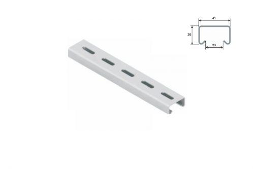 Jgheab metalic Courbi AC-A1-1.5 Profil sina C perforata 42×20/M12