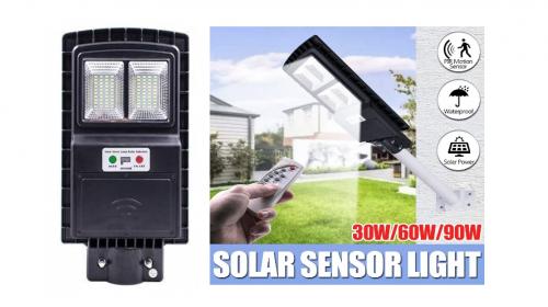 Energie solara Corp stradal  SOLAR LED  30w/6400k/64smd (plastic/telecomanda)  *TV 0,25ron
