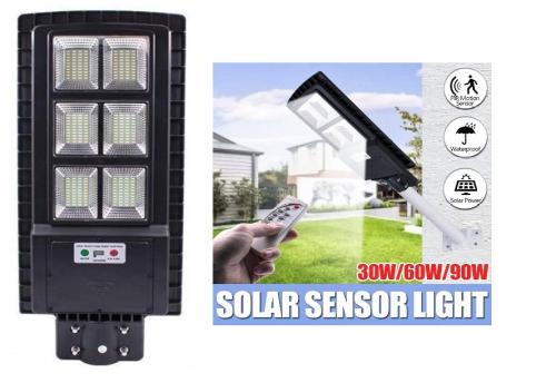 Energie solara Corp stradal  SOLAR LED  90w/6400k/256smd (plastic/telecomanda)  *TV 0,25ron