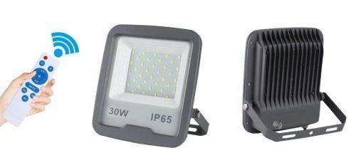 LED - proiectoare Klass – Proiector led 30w/6400k cu senzor crepuscular si telecomanda