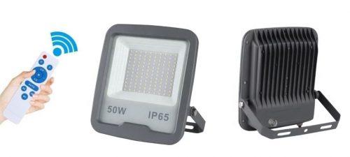 LED - proiectoare Klass – Proiector led 50w/6400k cu senzor crepuscular si telecomanda