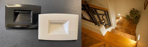 LED - corp il interior Spot led scara/hol IP65  2w/4000k/negru  *TV 0,25ron