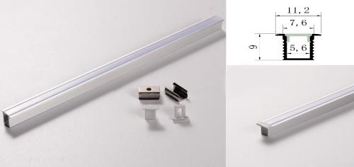 LED - banda & accesorii Profil led aluminiu PXG- 101/1 – aplicat/1m