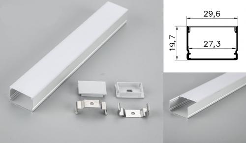 LED - banda & accesorii Profil led aluminiu PXG-3020M/2 – aplicat/2m