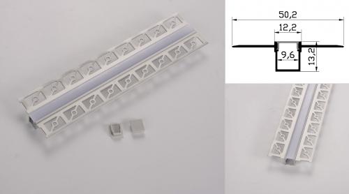 LED - banda & accesorii Profil led aluminiu PXG- 304/1 – ingropat/gips carton/1m