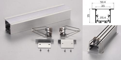 LED - banda & accesorii Profil led aluminiu PXG-3535A/2 – ingropat/gips carton/2m