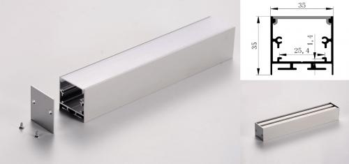 LED - banda & accesorii Profil led aluminiu PXG-3535M/1 – aplicat/1m